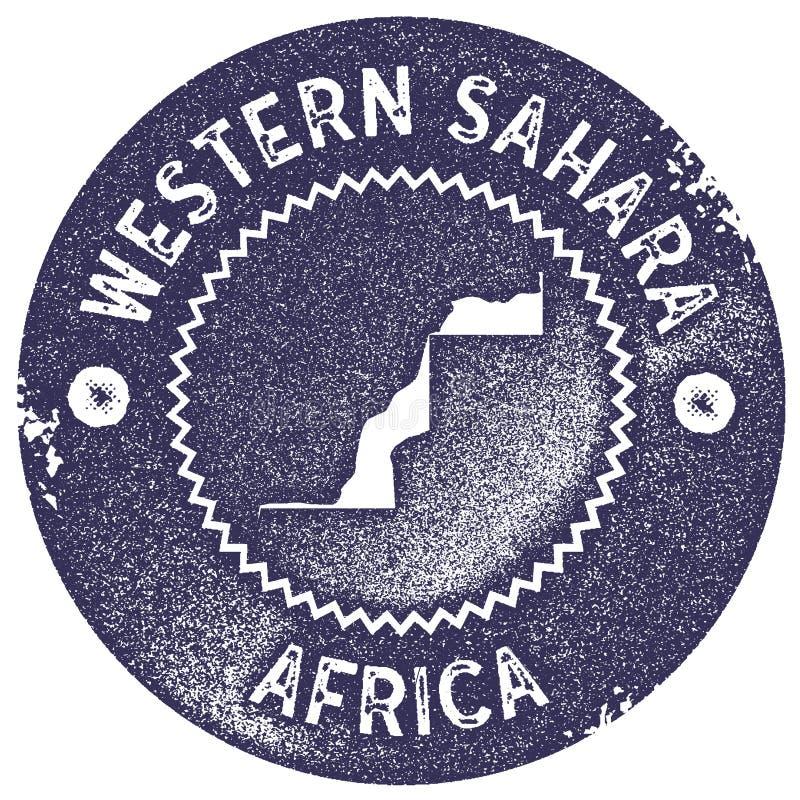 Westelijke de kaart uitstekende zegel van de Sahara vector illustratie