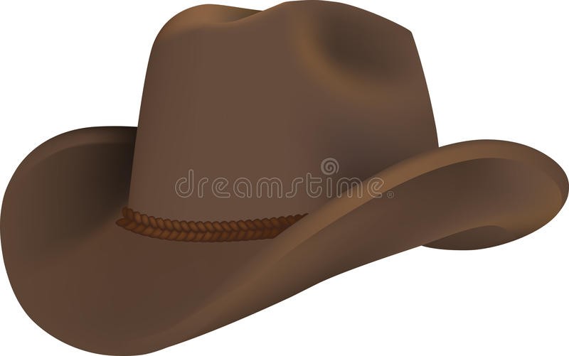 Westelijke hoed royalty-vrije illustratie