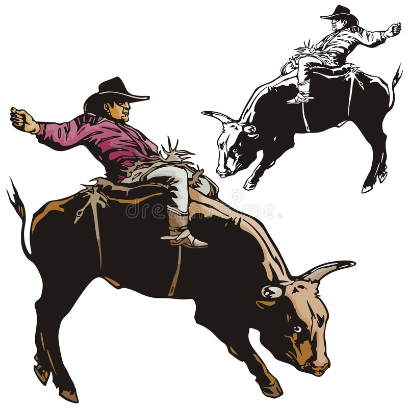 Westelijke illustratiereeks stock illustratie