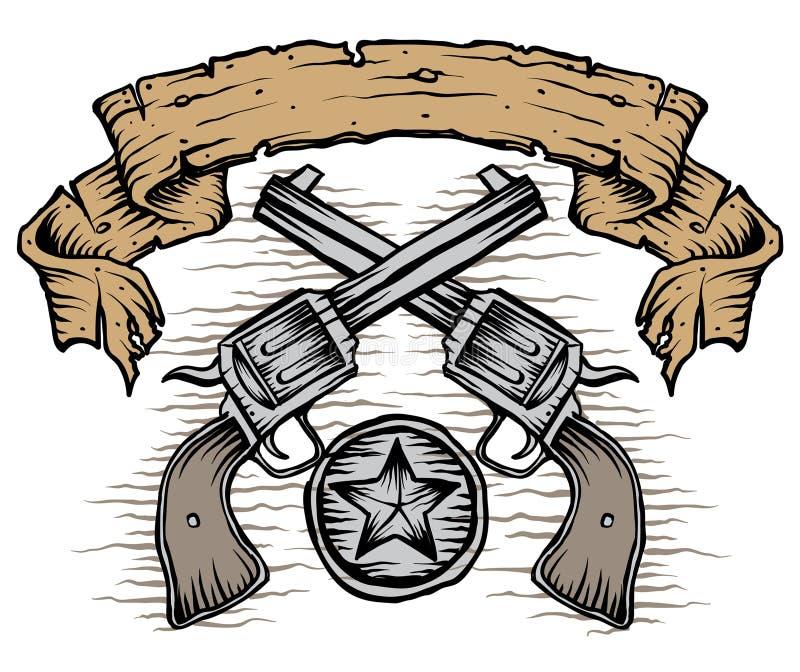 Westelijke Kanonnen royalty-vrije illustratie