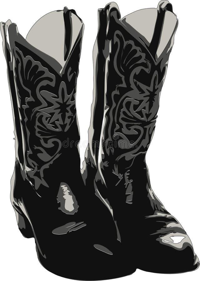 Westelijke Laarzen stock illustratie