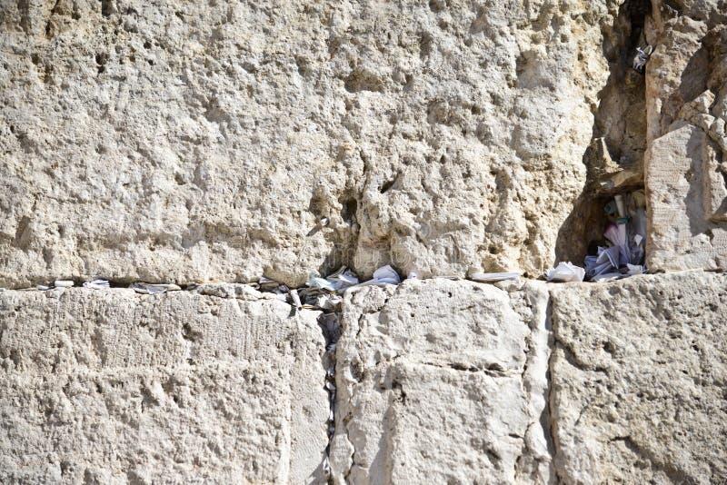 Westelijke Muur, Jeruzalem, Israël stock fotografie