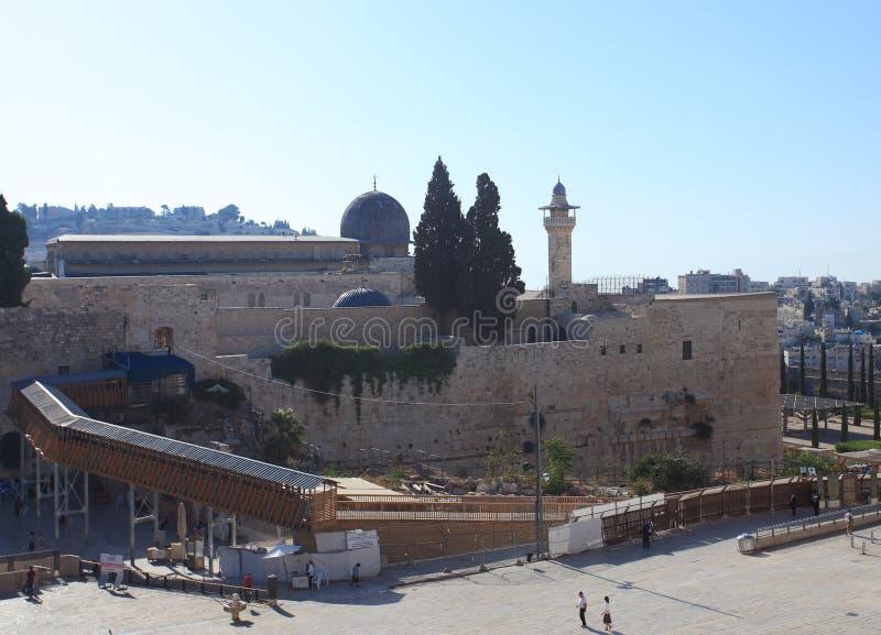 Westelijke Muurplein & Moskee al-Aqsa royalty-vrije stock afbeeldingen
