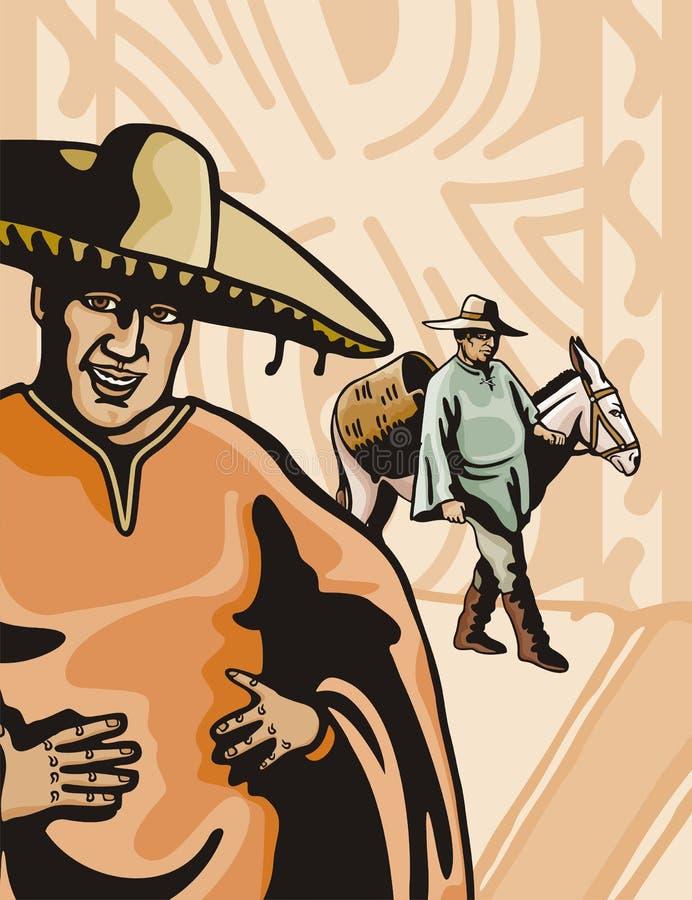 Westelijke reeks als achtergrond royalty-vrije illustratie