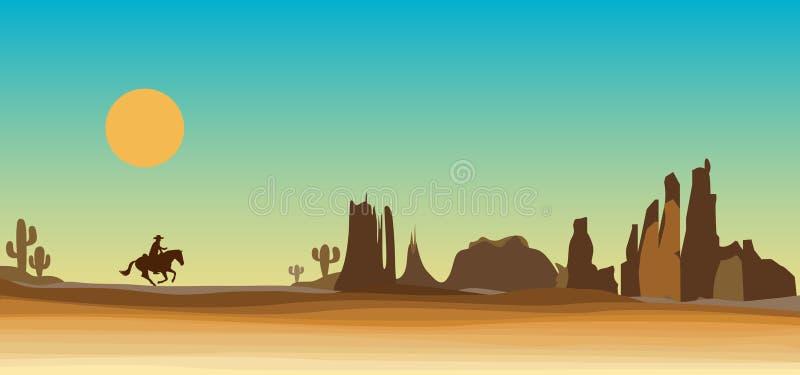 Westelijke scène stock illustratie
