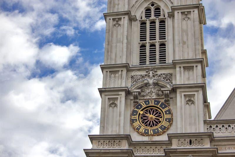 Westelijke voorgevel, de Abdij van Westminster, Londen royalty-vrije stock foto's