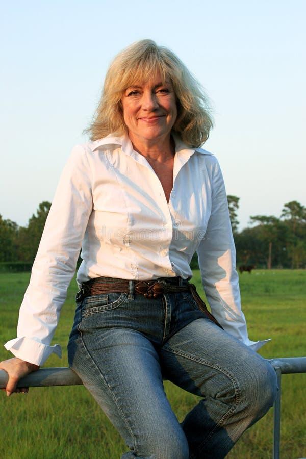 Westelijke Vrouw 2 van het land royalty-vrije stock afbeeldingen