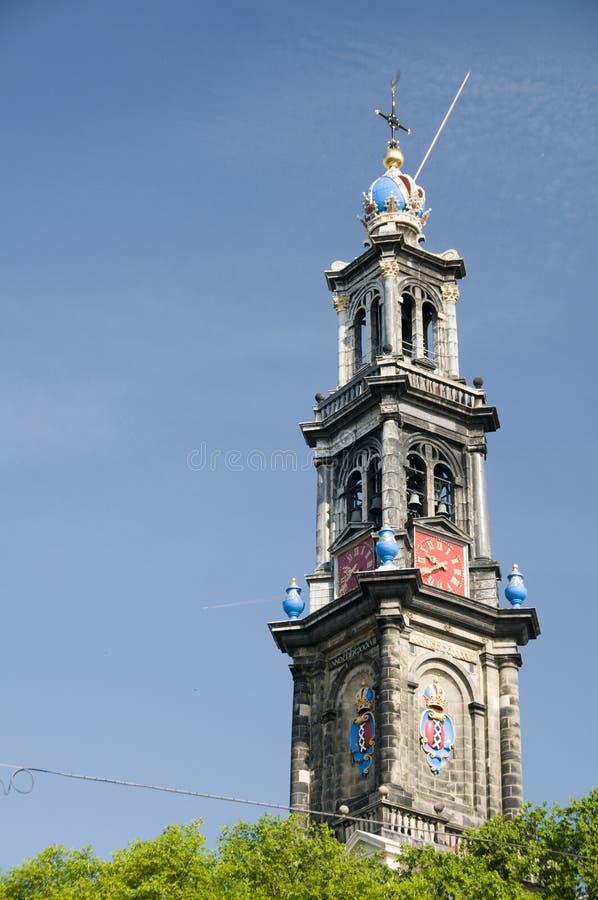 Westerchurch Hollande de Westerkerk Amsterdam images libres de droits