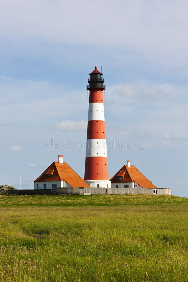 Download Westerhever lighthouse stock image. Image of house, german - 25946183