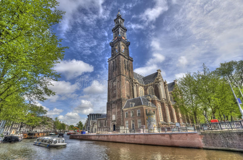 Westerkerk a Amsterdam fotografie stock libere da diritti