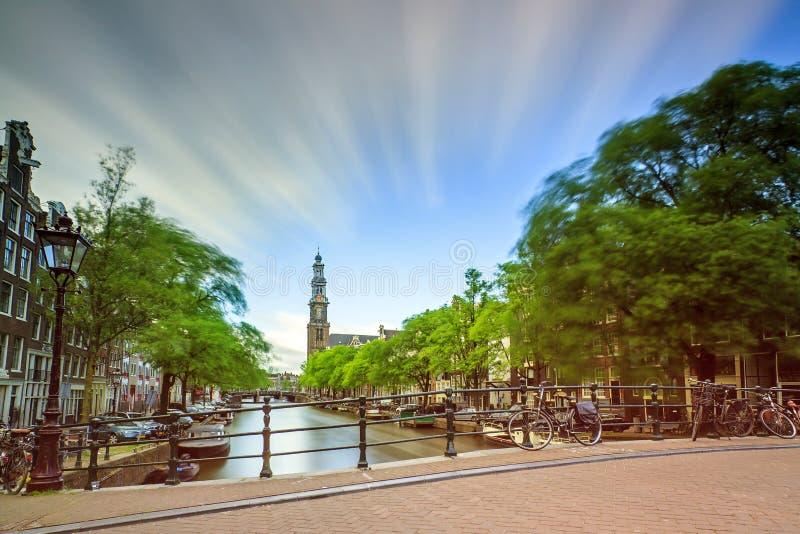 Westerkerk chmury obraz royalty free