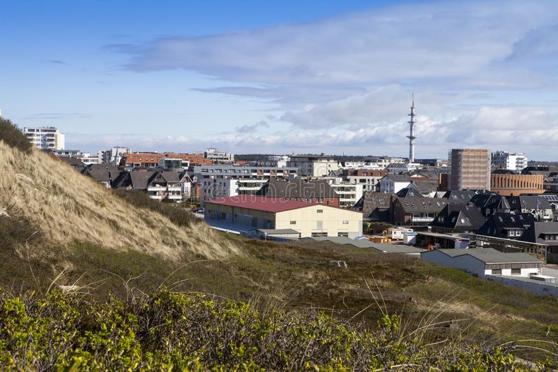 Westerland with TV tower royalty free stock images