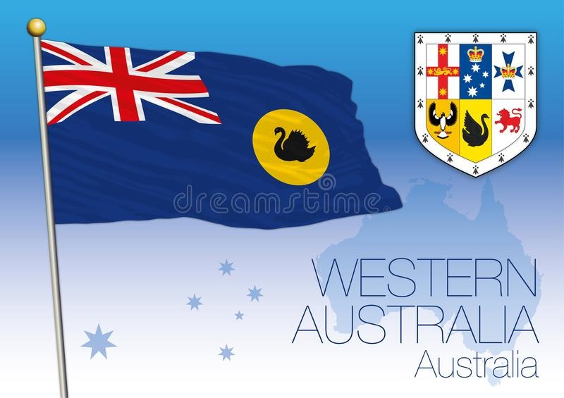 Western Australia, flag of the state and territory, Australia royalty free illustration