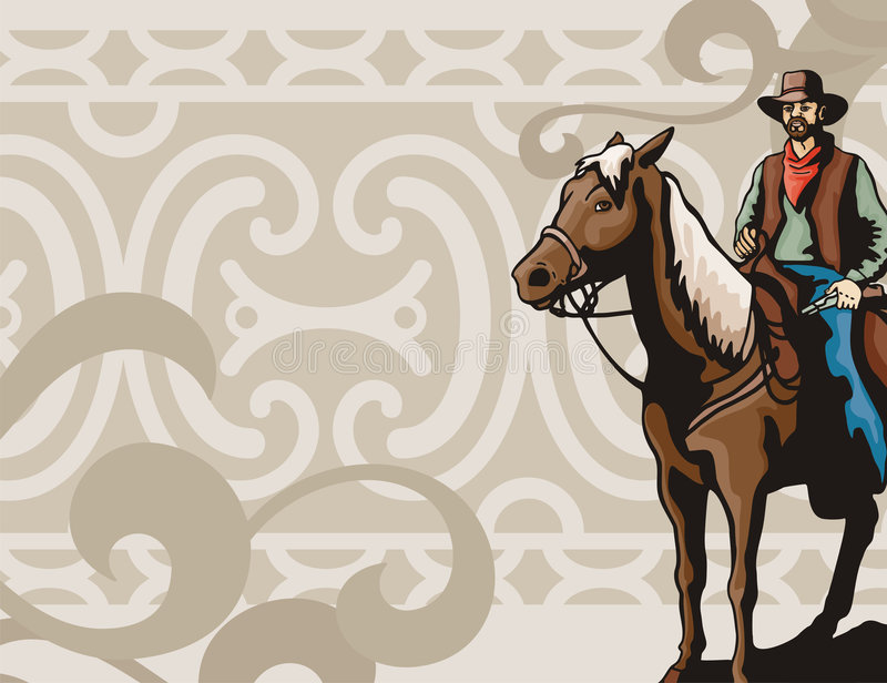 Western background series stock illustration