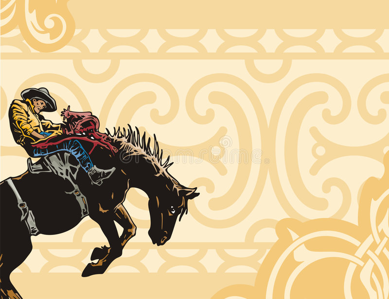 Western background series royalty free illustration