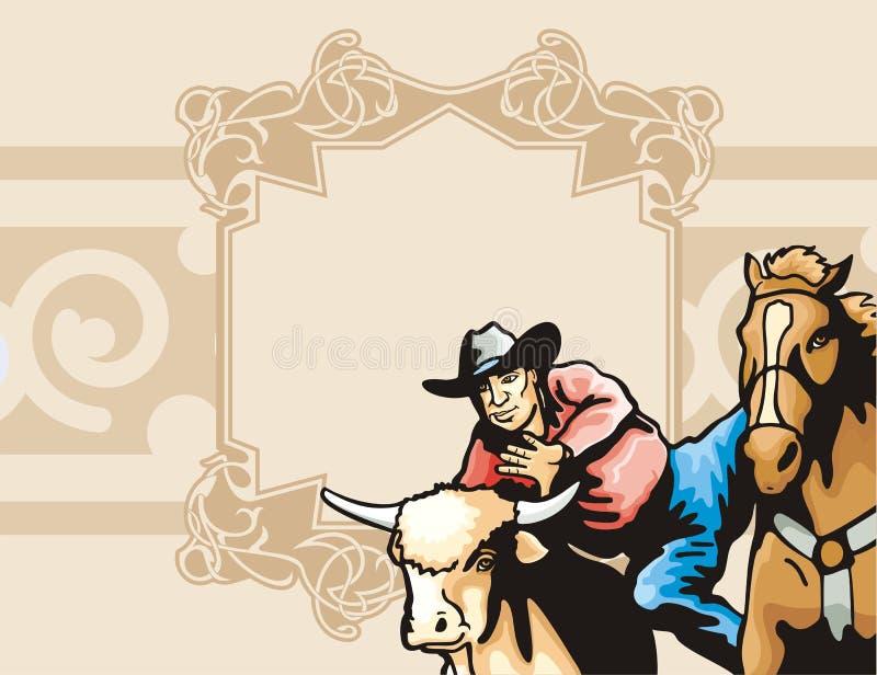 Western background series vector illustration