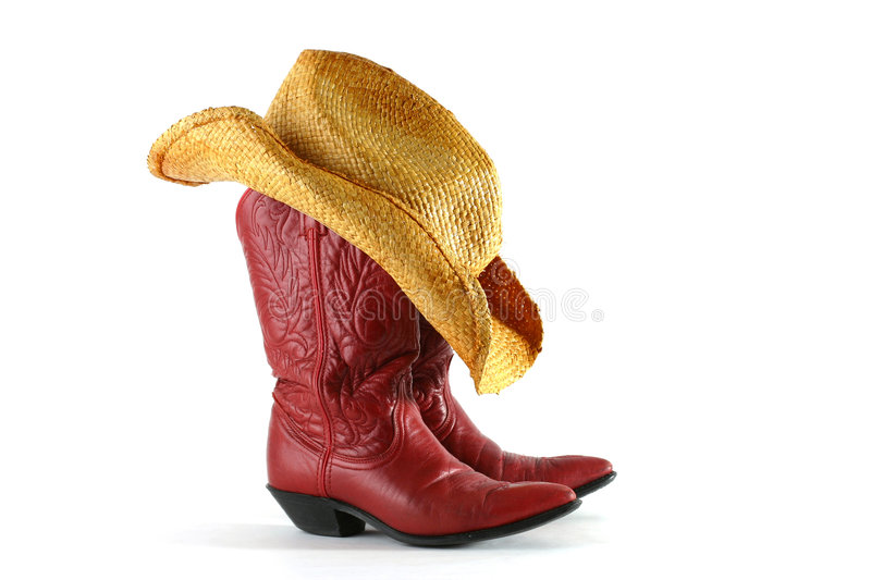 Western Boots and Hat royalty free stock photography