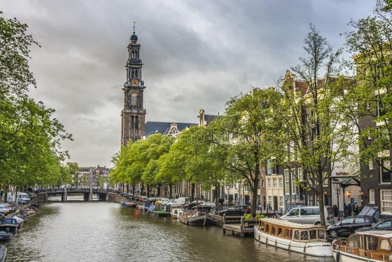 Western church in Amsterdam, Netherlands. stock image