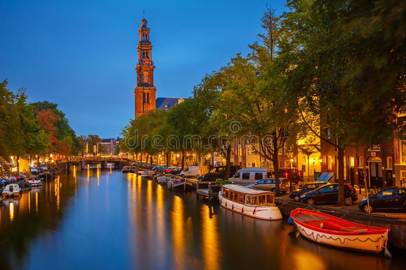 Western church in Amsterdam royalty free stock photography
