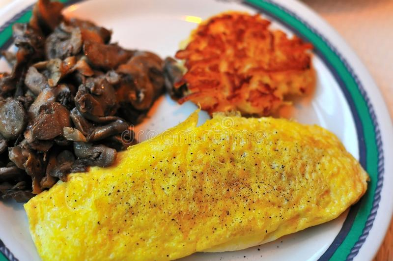 Western egg omelet royalty free stock photography