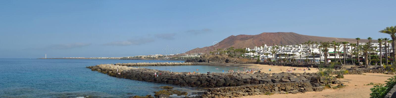 Western end of Playa Blanca royalty free stock images