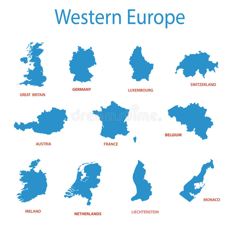 vector illustration of europe - photo #48