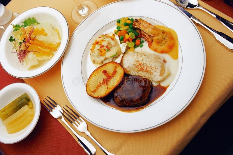 Western Food. Dish display royalty free stock photo