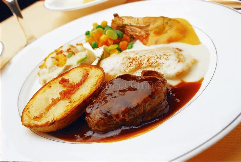 Western Food. Dish display royalty free stock photos