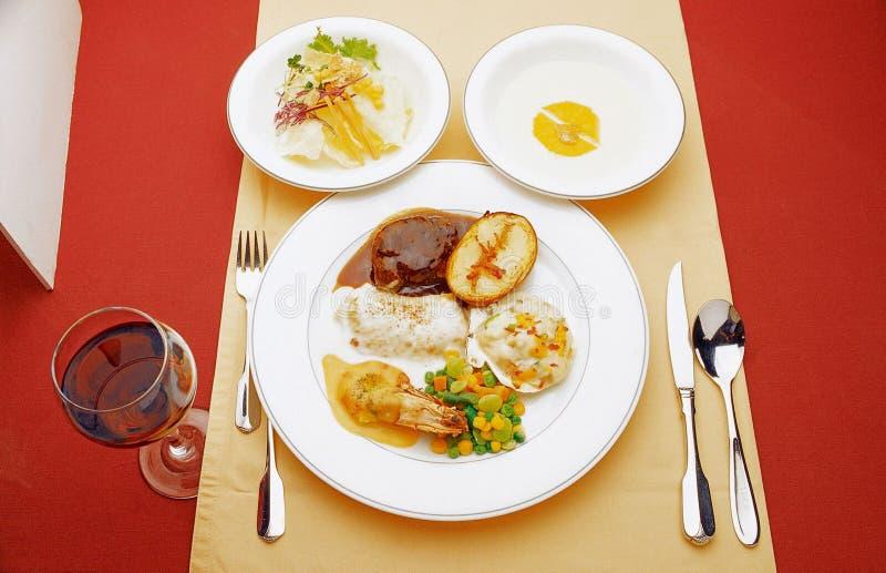 Western Food. Dish display stock image