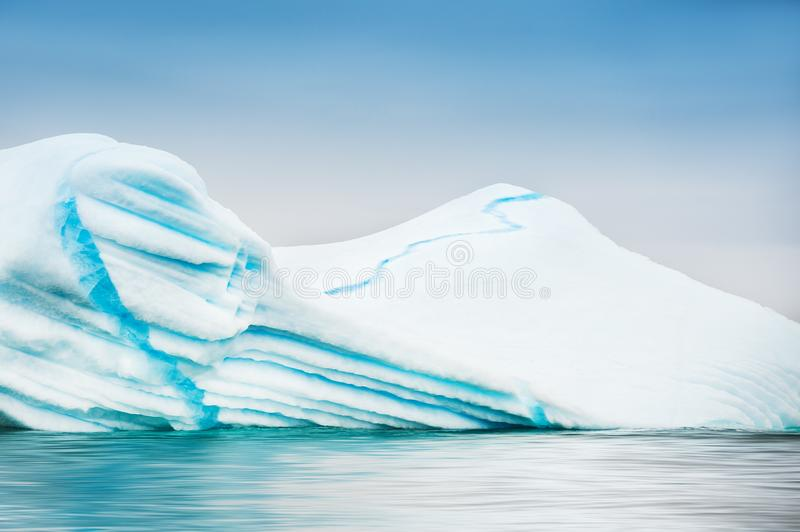 Beautiful iceberg in Greenland. Western Greenland. Beautiful iceberg in Atlantic ocean royalty free stock images
