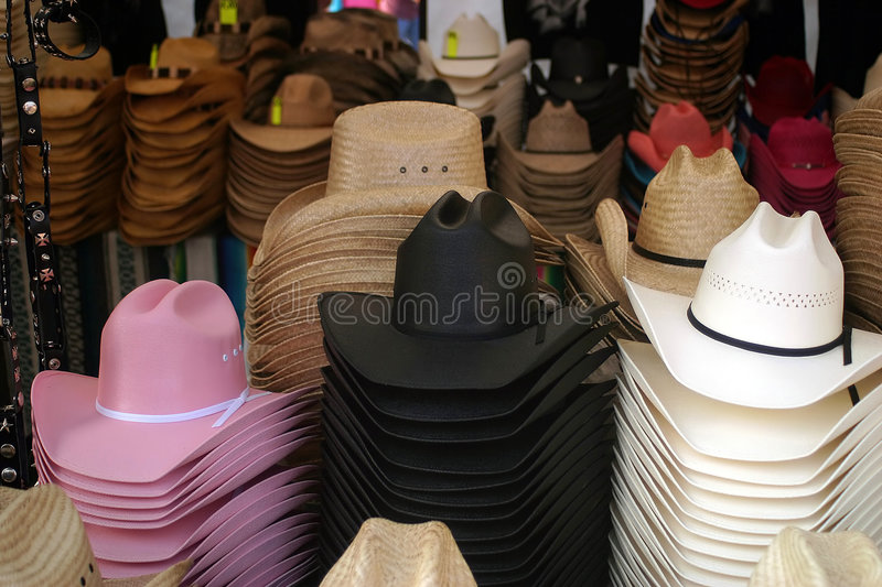 Western Hat Shop stock photography