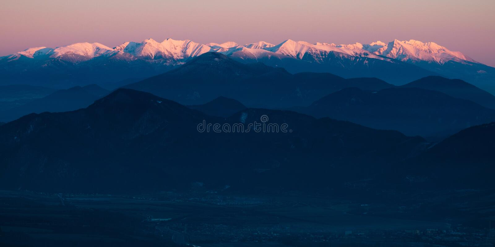 Western And High Tatras Royalty Free Stock Photography