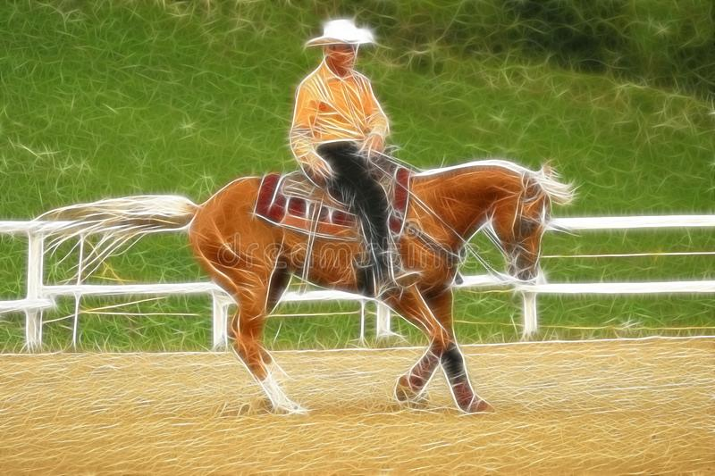 Western horse riding fractal stock images