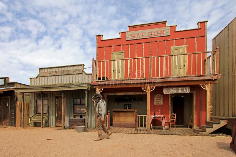 Western houses on the stage of the O.K. Corral gunfight in Tombstone, Arizona. Western houses on the stage of the O.K. Corral gunfight in Tombstone Arizona USA stock photos