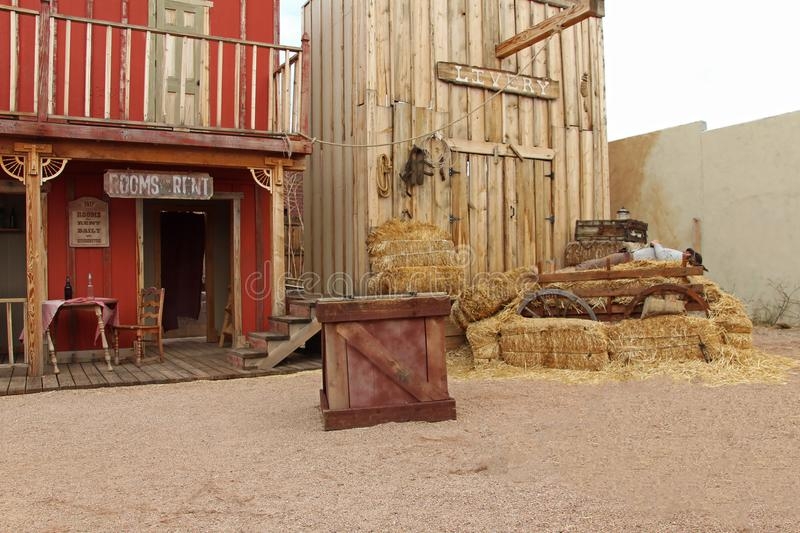 Western houses on the stage of the O.K. Corral gunfight in Tombstone, Arizona. Western houses on the stage of the O.K. Corral gunfight in Tombstone Arizona USA royalty free stock photos