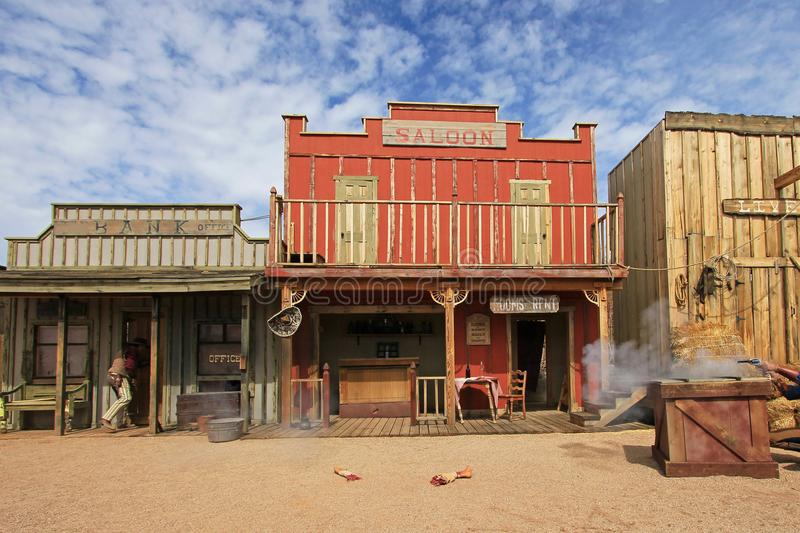 Western houses on the stage of the O.K. Corral gunfight in Tombstone, Arizona. Western houses on the stage of the O.K. Corral gunfight in Tombstone Arizona USA stock photo
