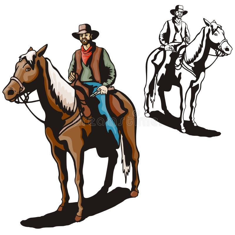 Western Illustration Series Stock Image