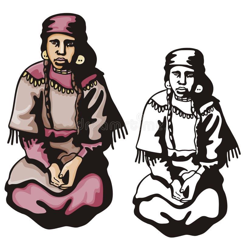 Western illustration series royalty free illustration