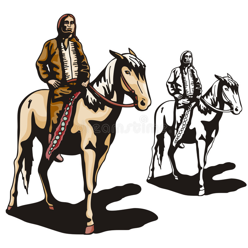 Western illustration series vector illustration