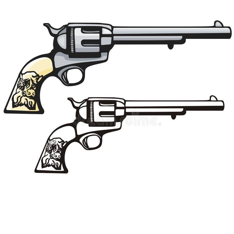 Western illustration series. Vector illustration of a pistol. EPS file available vector illustration
