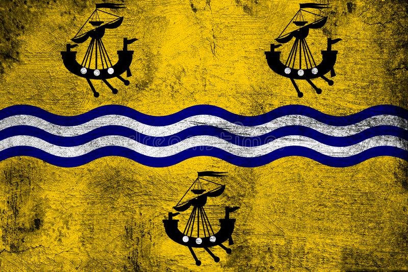 Western Isles Council. Grunge and dirty flag illustration. Perfect for background or texture purposes vector illustration