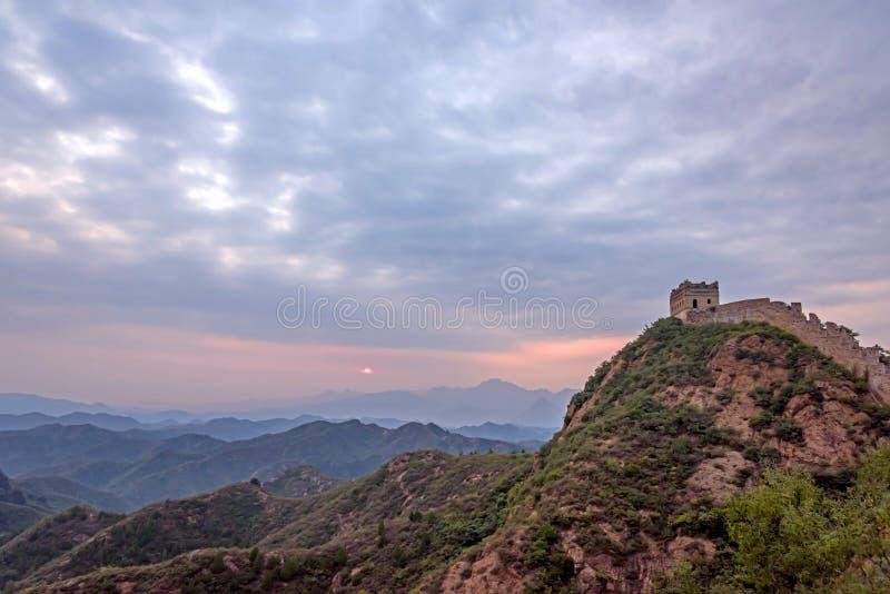 western Jinshanling Great Wall stock photo