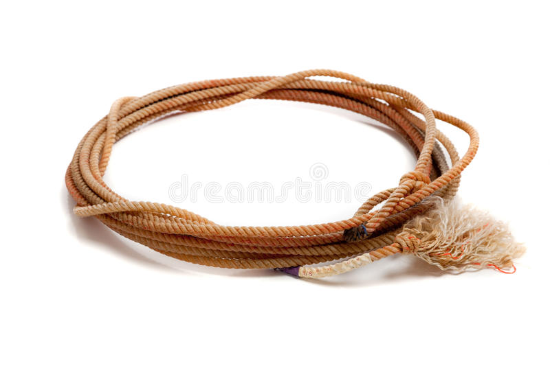 Western lasso on a white background stock photography