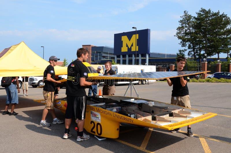 Western Michigan University's solar car royalty free stock photography