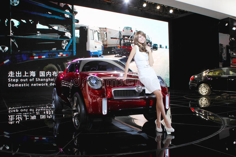 Download Western model in auto show editorial photography. Image of white - 30504697
