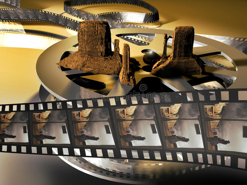 Western Movie Royalty Free Stock Photography