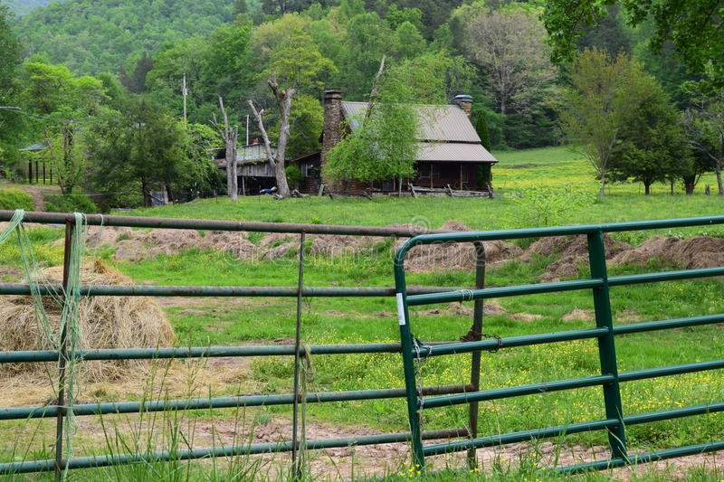 Western NC farmhouse. Western NC rural country farmhouse royalty free stock images
