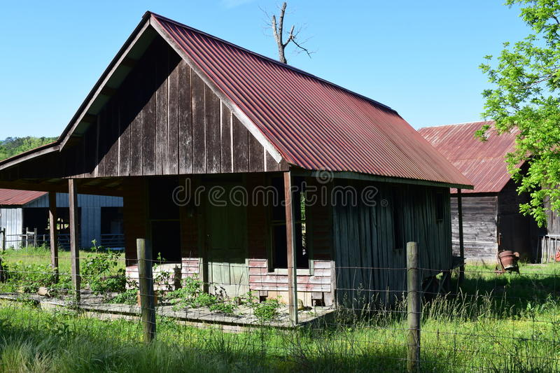 Western NC old farm house. And barns in the background royalty free stock images