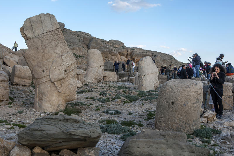 The western platform at Mt Nemrut in Turkey in the late afternoon royalty free stock images