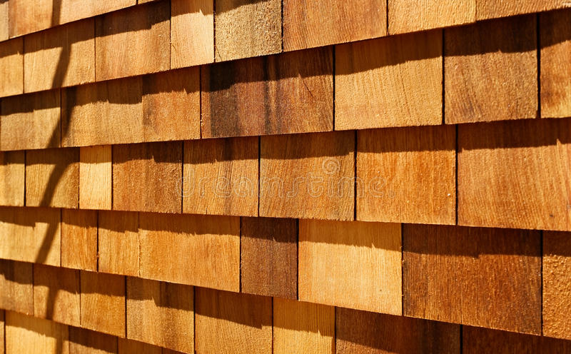 Western red cedar wood shingles wall siding stock image for Wood shingle siding cost